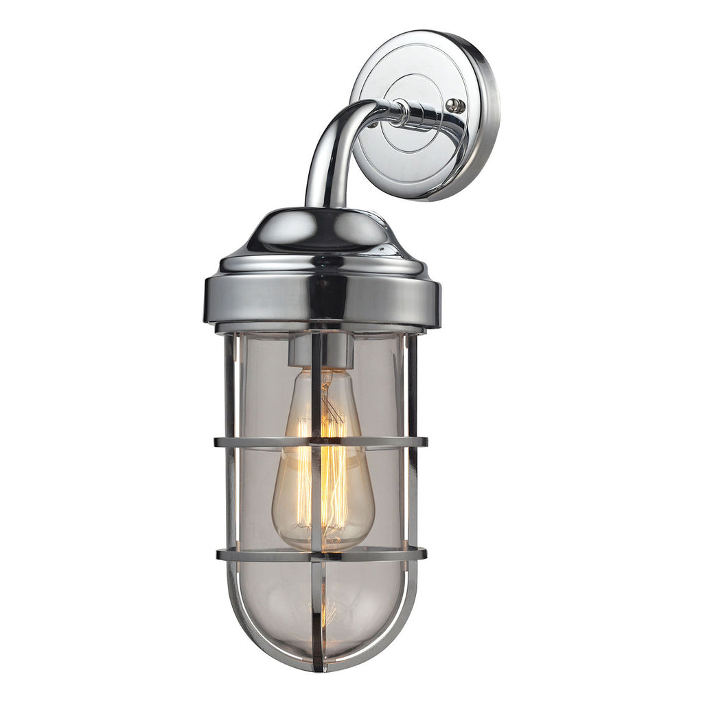 Seaport 1-Light Sconce in Polished Chrome