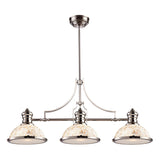 Chadwick 3-Light Polished Nickel and Cappa Shell Island Light