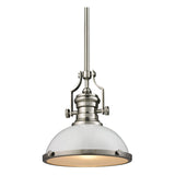 Chadwick 1-Light Pendant with Gloss White