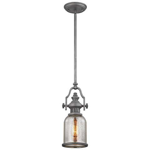 Chadwick 1-Light Weathered Zinc Pendant