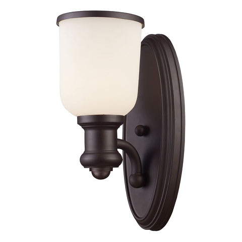 1-Light Sconce with Oiled Bronze