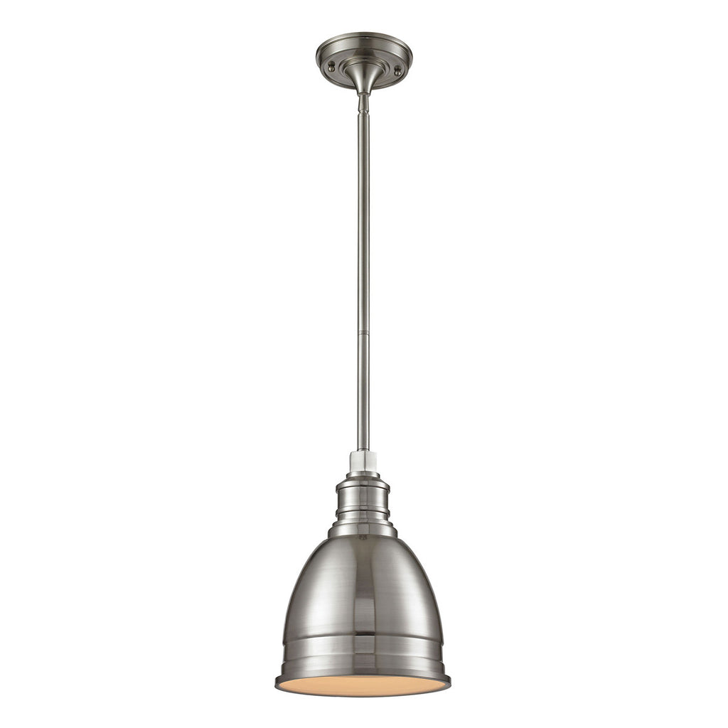 Carolton 1-Light Pendant in Brushed Nickel