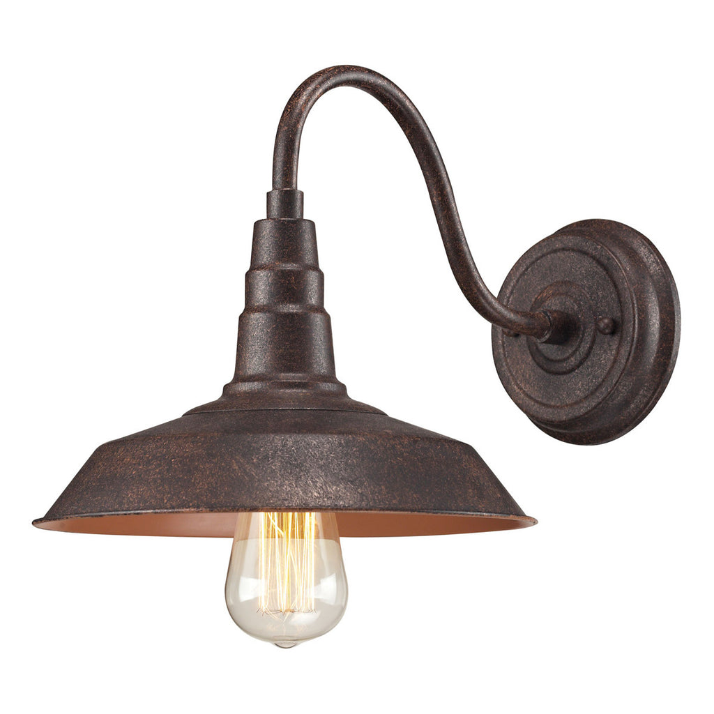 Urban Lodge 1-Light Sconce in Weathered Bronze