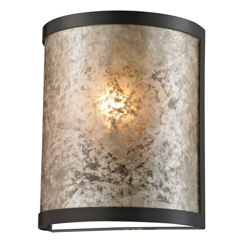 1-Light Mica Sconce in Oil Rubbed Bronze