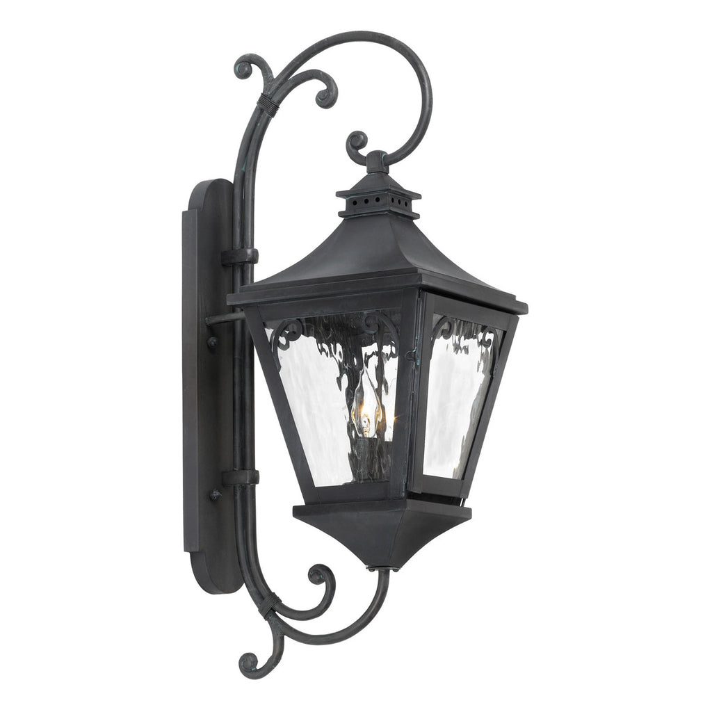 Manor 2-Light Outdoor Sconce in Charcoal