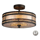 Mica Filigree 2-Light Tiffany Bronze Semi-Flush