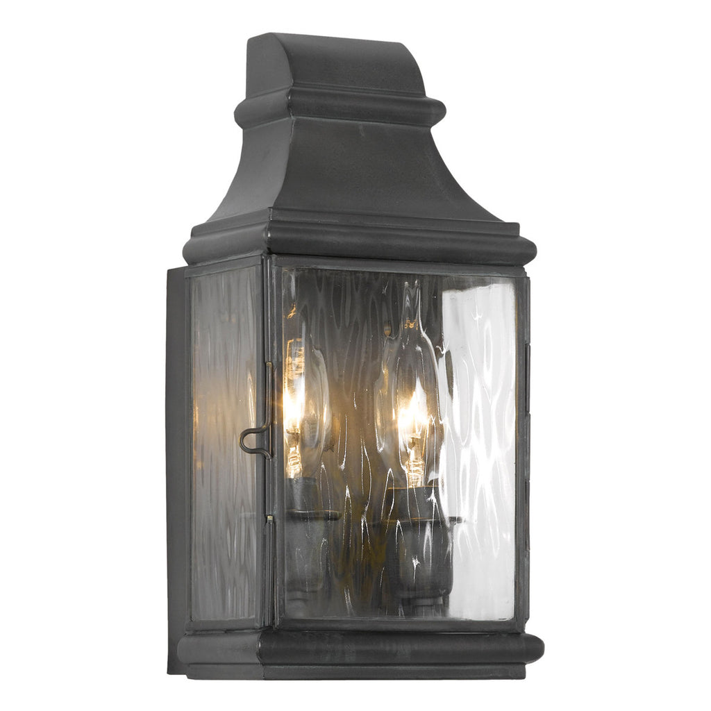 Jefferson 2-Light Outdoor Wall Sconce in Charcoal