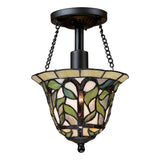 Latham 1-Light Tiffany Bronze Semi-Flush