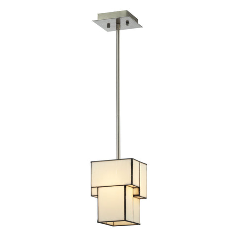 Cubist 1-Light Brushed Nickel Mini Pendant