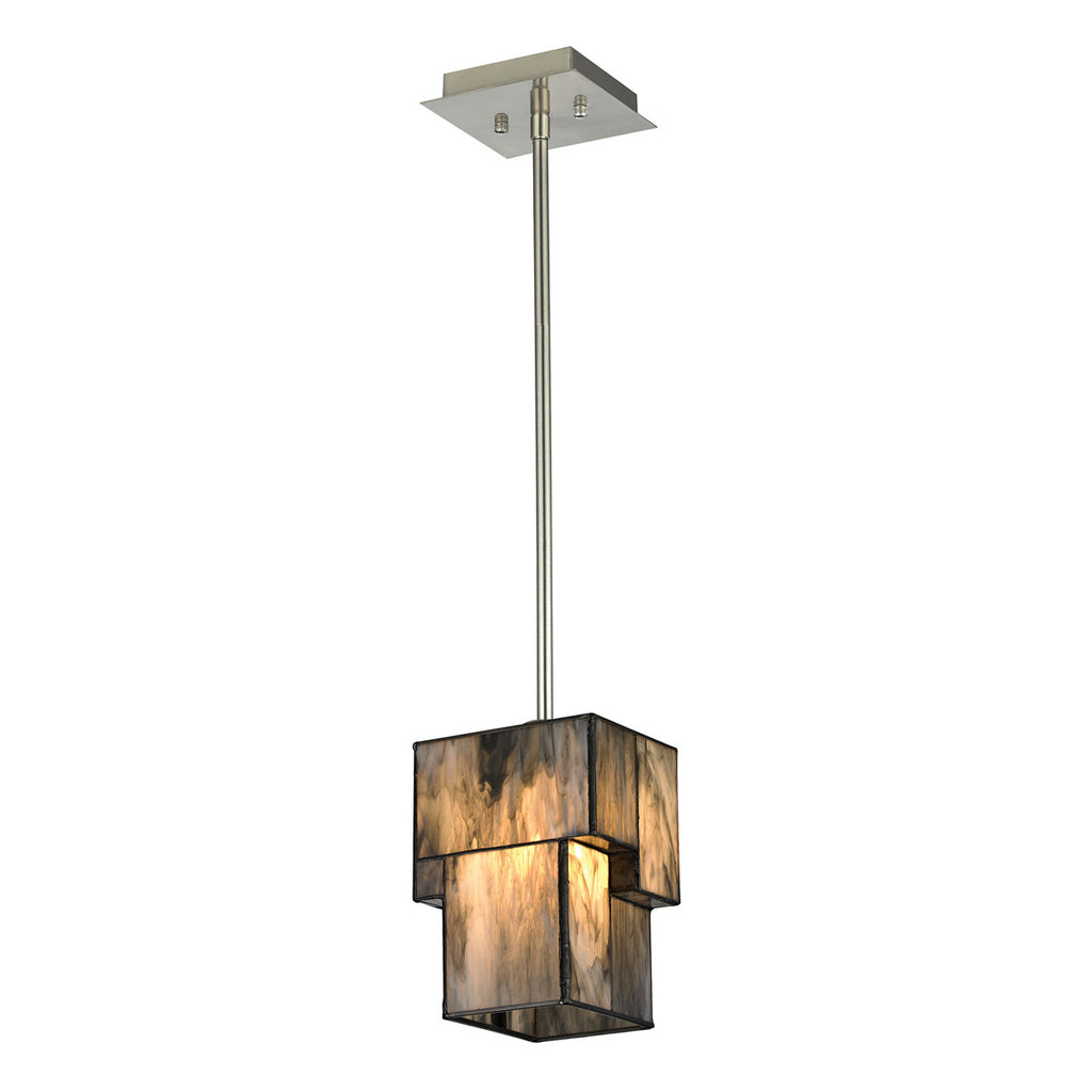 Cubist Collection 1-Light mini pendant in Brushed Nickel