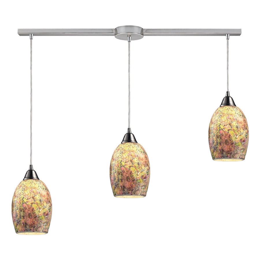 Avalon 3-Light Pendant in Satin Nickel