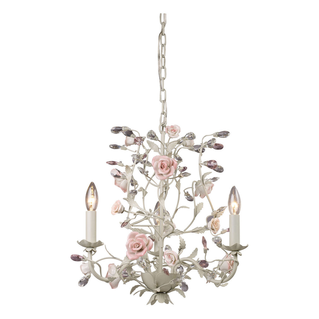 Heritage 3-Light Chandelier in Cream