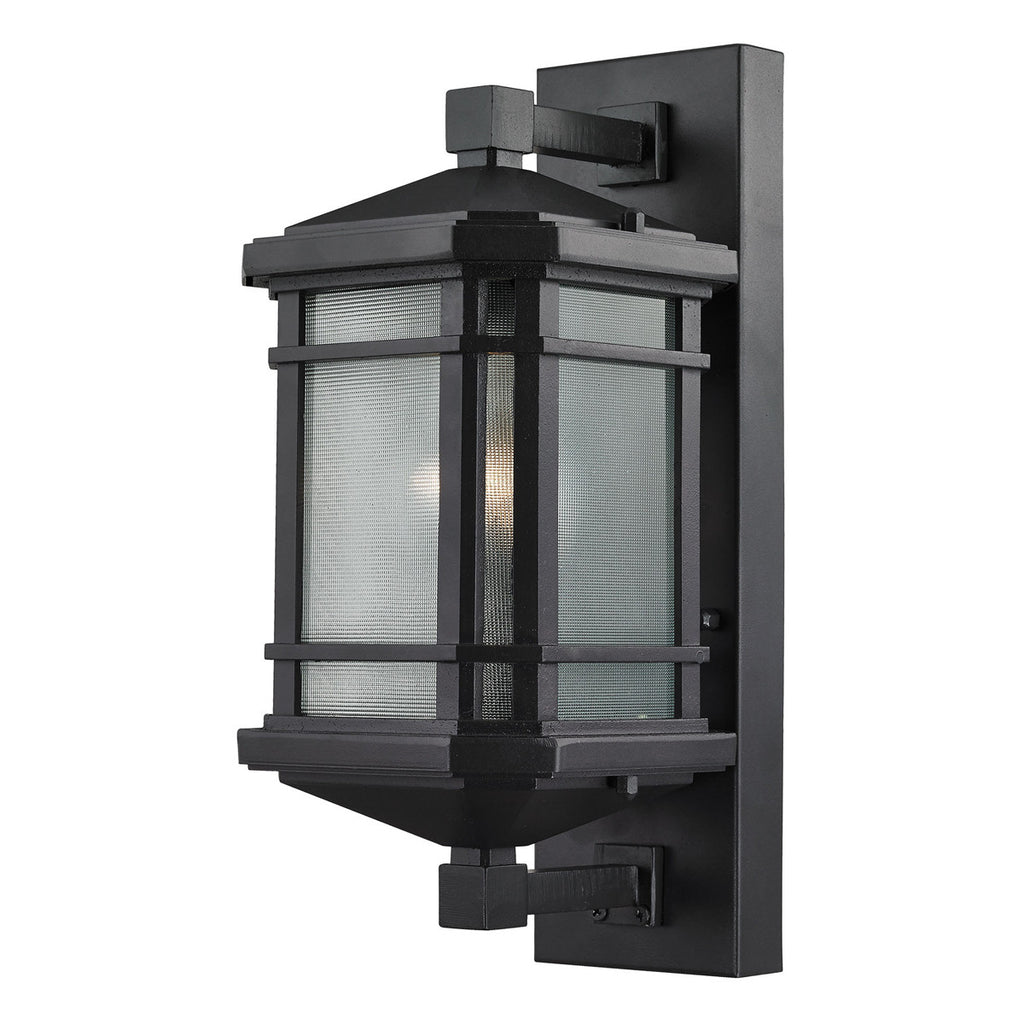 Lowell 1-Light Outdoor Sconce with Matte Black
