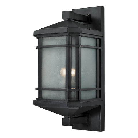 1-Light Lowell Outdoor Sconce in Matte Black