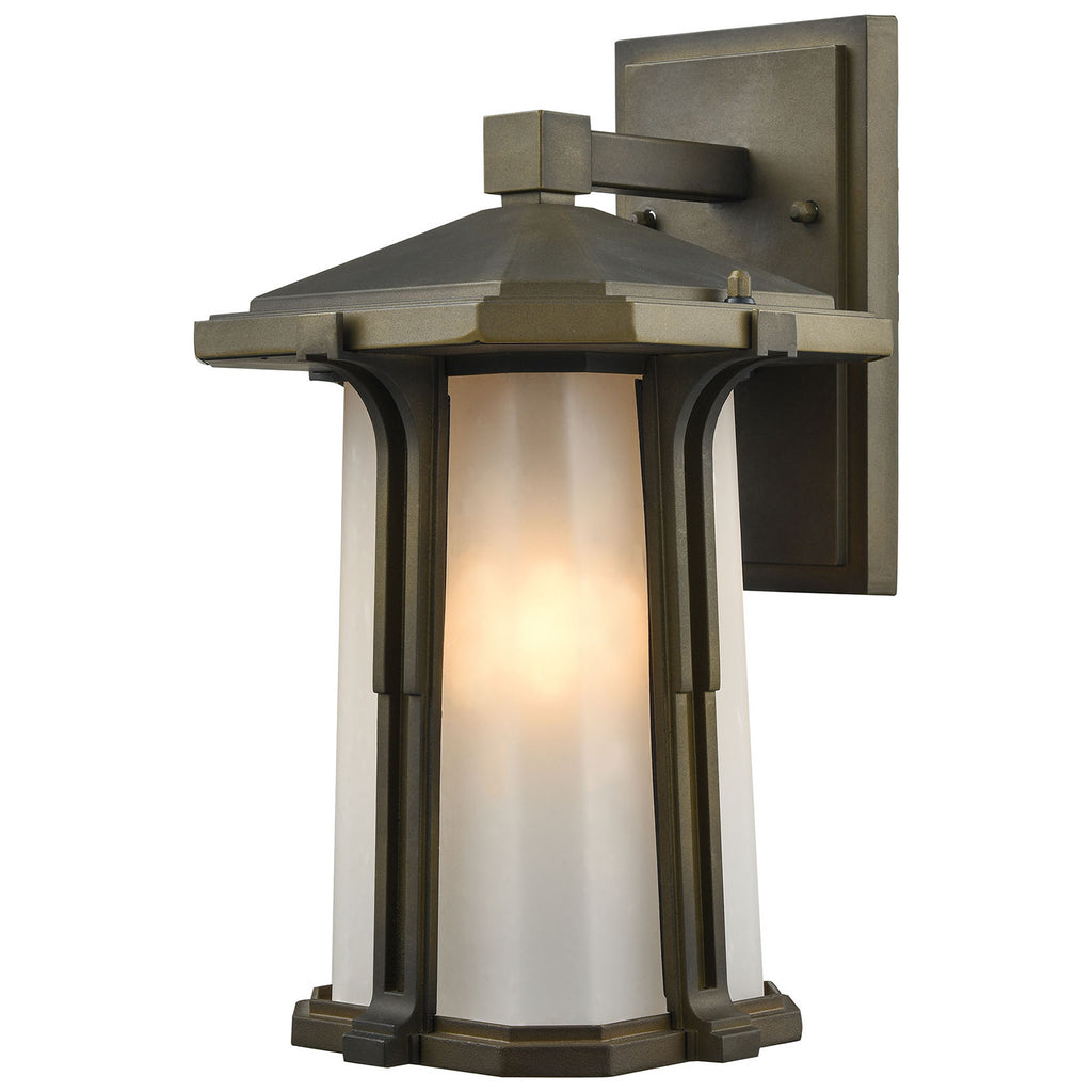 Brighton 1-Light Outdoor Smoked Bronze Wall Sconce