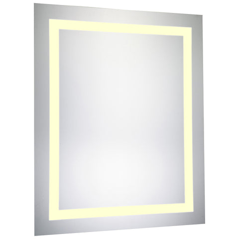 Nova LED Electric Rectangle Glossy White Mirror