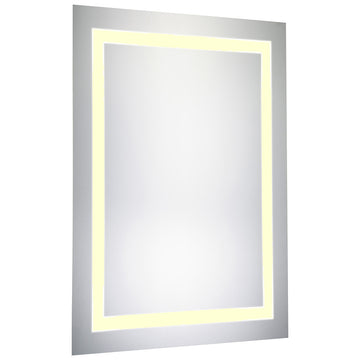 Nova LED Electric Rectangle Mirror in Glossy White