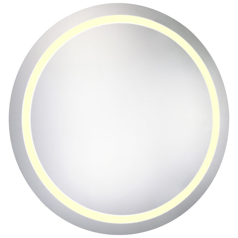 Nova LED Electric Round Mirror in Glossy White