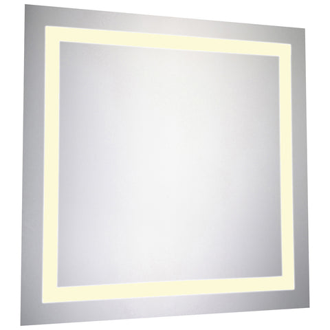 Nova LED Electric Square Mirror in Glossy White