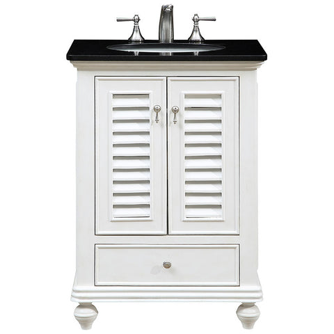 "Northport 25"" Single Bathroom Vanity Set in Antique White"