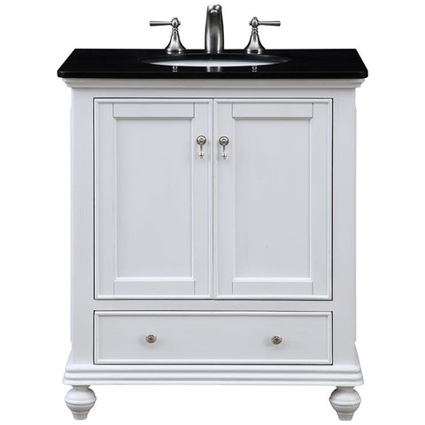 "Otto 30"" Single Bathroom Vanity Set in White"