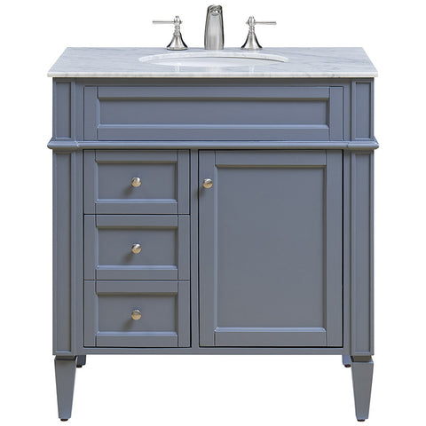 "Park Ave 32"" Single Bathroom Vanity Set"