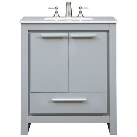"Filipo 30"" Single Bathroom Vanity Set in Gray"
