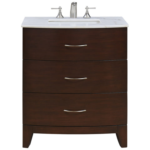 "Bauhaus 30"" Single Bathroom Vanity Set in Brown"