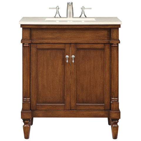 "Lexington 30"" Single Bathroom Brown Vanity Set"