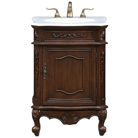 "Berkshire 24"" Single Bathroom Vanity Set in Coffee"