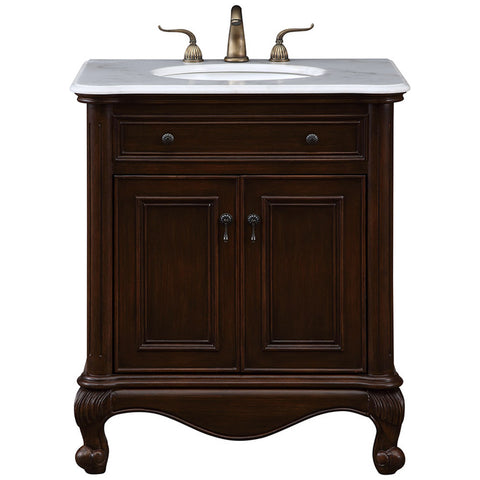 "Luxe 30"" Single Bathroom Vanity Set in Teak"