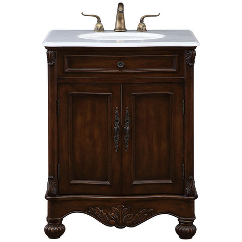 "Windsor 27"" Single Bathroom Vanity Set in Teak"