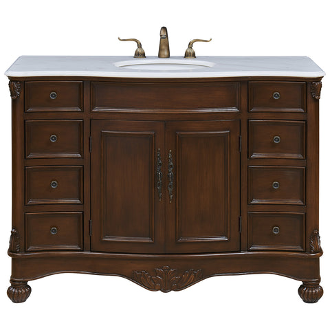 "Windsor 48"" Single Bathroom Teak Vanity Set"