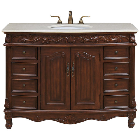 "Bordeaux 48"" Single Bathroom Vanity Set"
