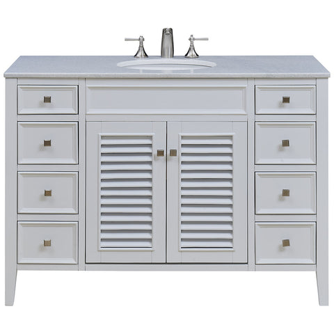 "Cape Cod 48"" Single Bathroom Vanity Set in White"