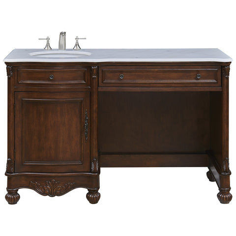 "Windsor 52"" Single Bathroom Vanity Set in Teak"