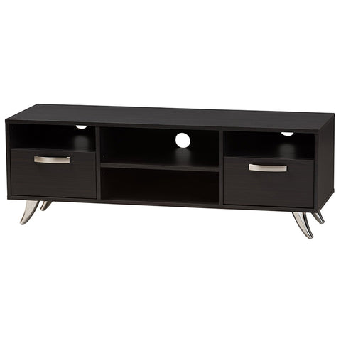 Baxton Studio Warwick Espresso Brown Finished Wood TV Stand