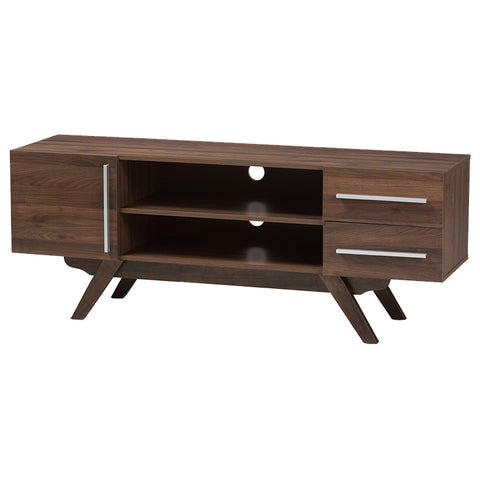 Baxton Studio Ashfield Walnut Brown Finished Wood TV Stand