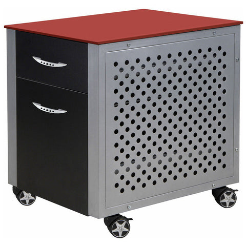 File Cabinet in Red