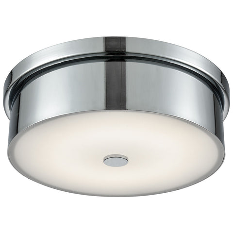Towne Round LED Flush Mount in Chrome