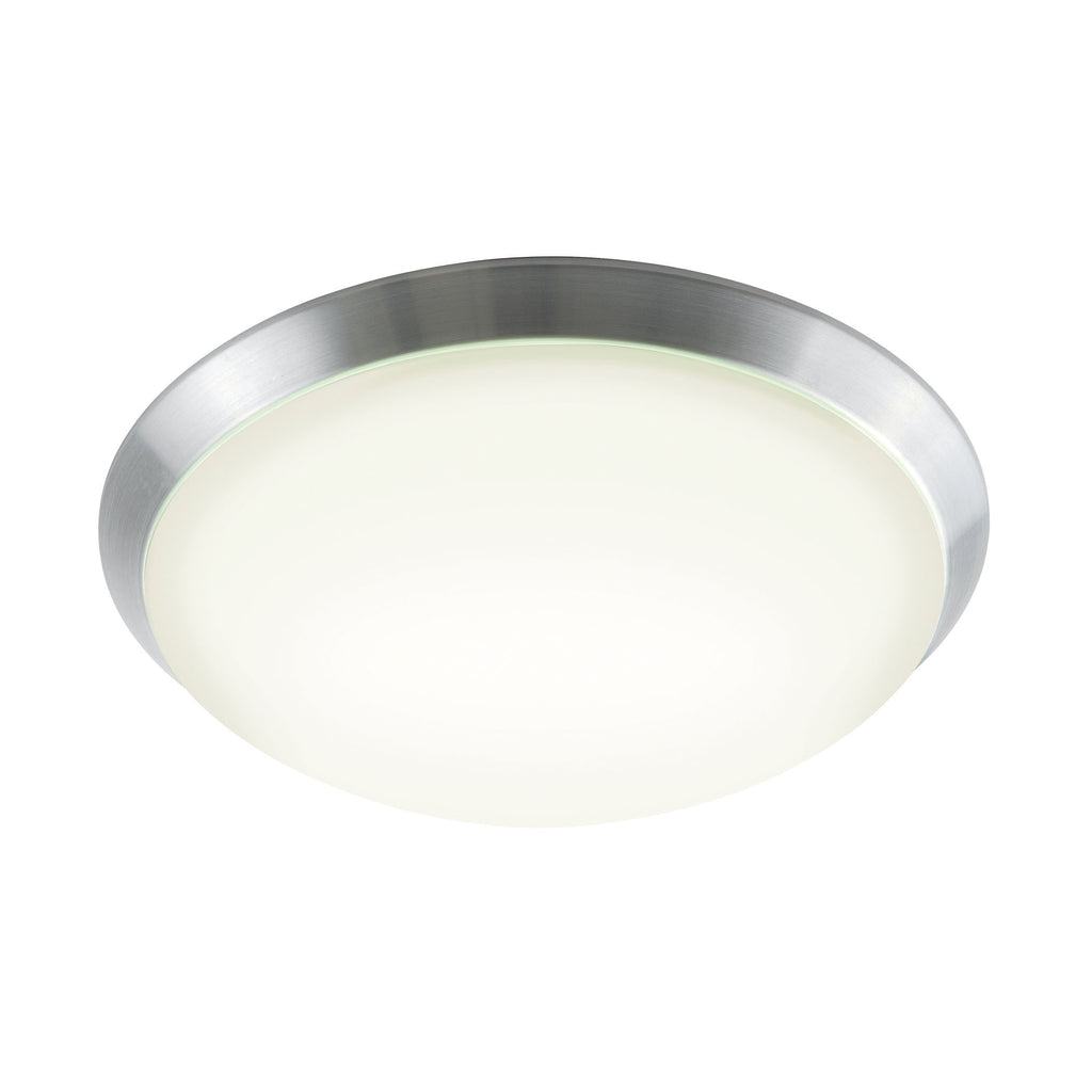 Luna Flush Mount in Brushed White Polycarbonate