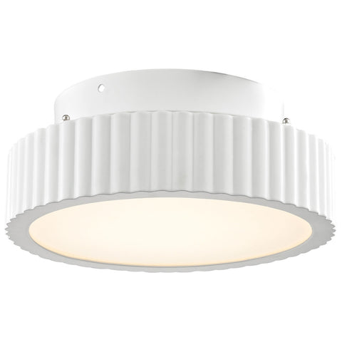 Digby 10 Watt LED Flush Mount in Matte White