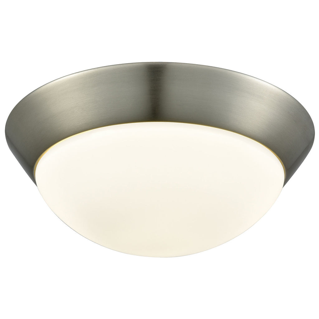 Contours 1-Light LED Flush Mount in Satin Nickel