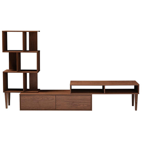 Haversham Mid-century Retro Modern TV Stand Entertainment Center