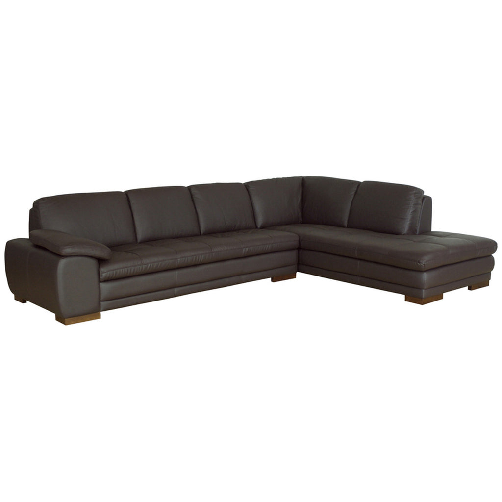 Diana Dark Brown Sofa or Chaise Sectional