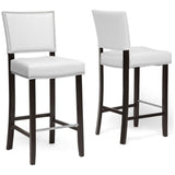 Aries Modern Bar Stools with Nail Head Trim, Set of 2