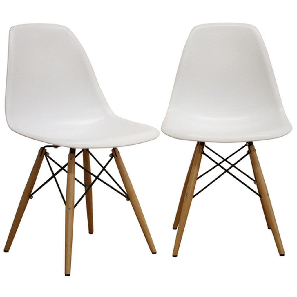 Azzo Plastic Side Chairs, Set of 2