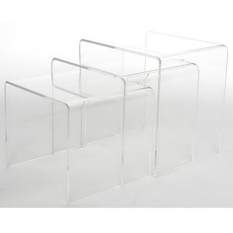 Acrylic Nesting Table 3-Pc Table Set Display Stands