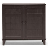 Glidden Short Dark Brown Wood Modern Shoe Cabinet