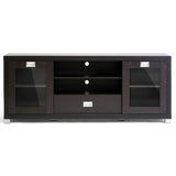 Matlock Modern TV Stand with Glass Doors